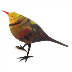 Shane Fero, Abstract Yellow & Red Warbler