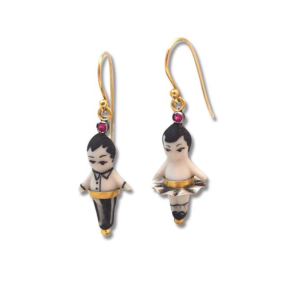 Mr & Mrs Tom Thumb Earrings