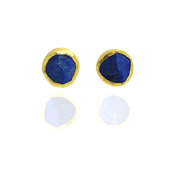 deco basin art carved erie chinese lapis earrings