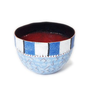 Sarah Perkins, Dehli Stripes Bowl, Blue