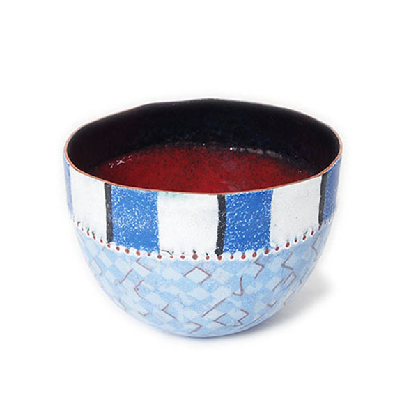 Dehli Stripes Bowl, Blue