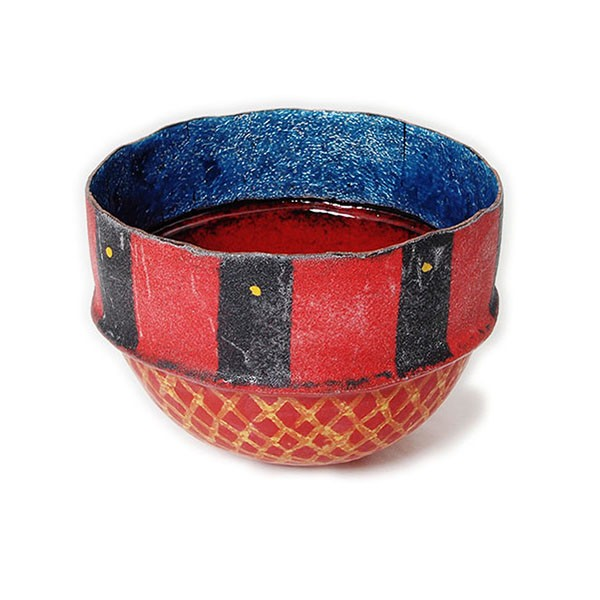 Dehli Stripes Bowl, Red