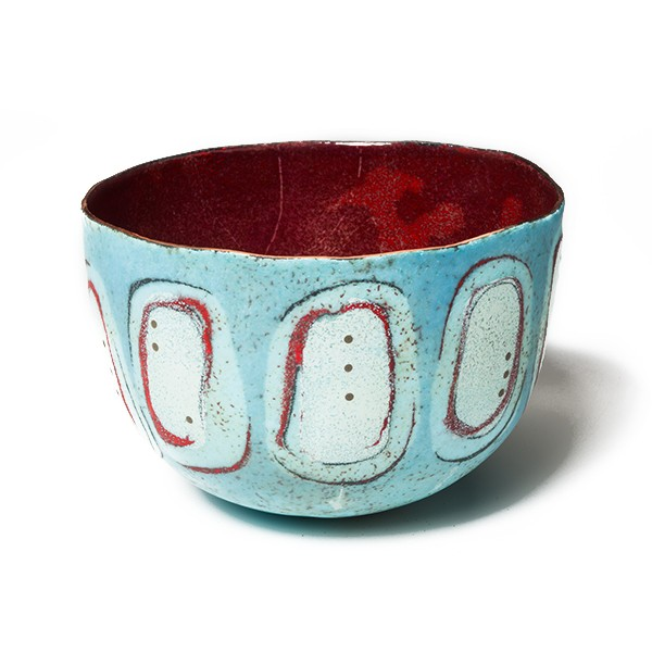 Light Blue Scarf Bowl