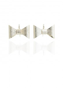 Yuri Tozuka Bow Earrings Large Light