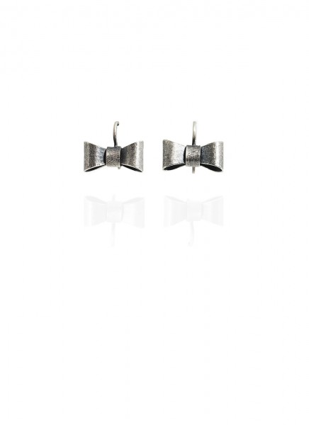 Yuri Tozuka Bow Earrings Small Dark