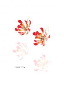 Yuri Tozuka Flower Earrings  Side View