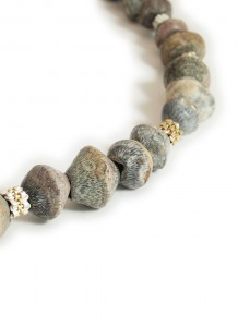 Hanne Behrens Grey Shells Long Necklace