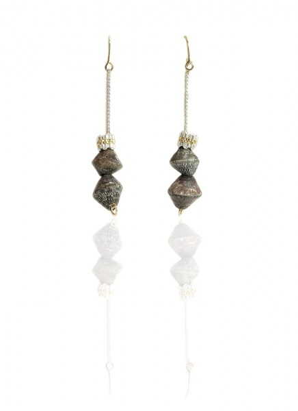 Hanne Behrens Grey Shell Earrings Long