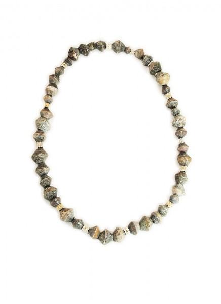 Hanne Behrens Grey Shells Long Necklace