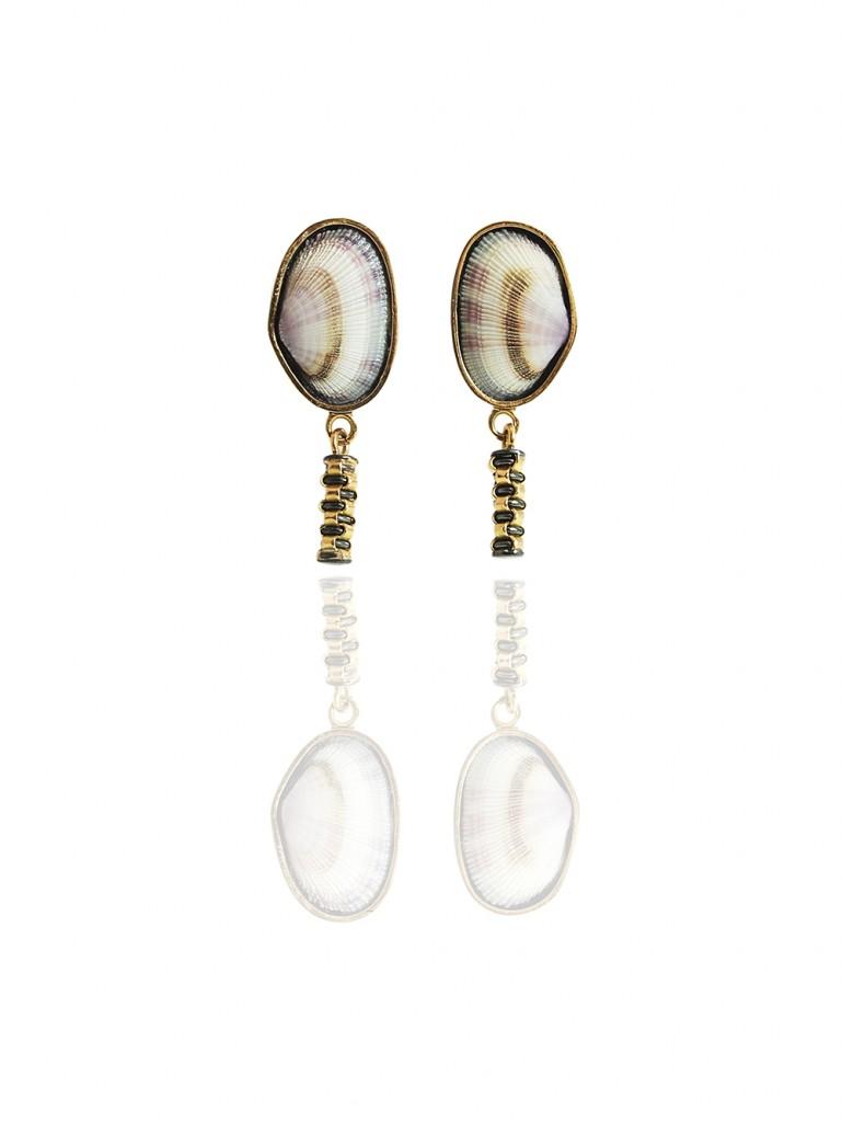 Hanne Behrens Purple Shell Earrings