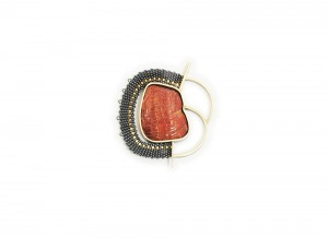 Hanne Behrens Red Brooch