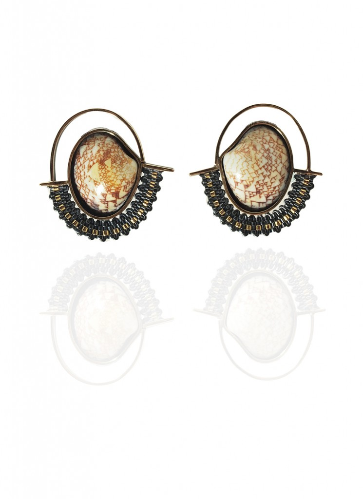 Hanne Behrens Shell 3 Earrings