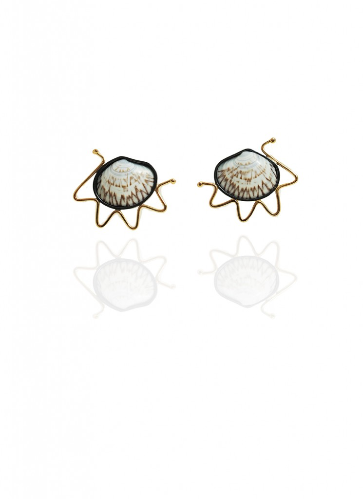 Hanne Behrens Shell 5 Earrings
