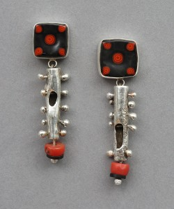Five Spot Earrings, Denise Barr