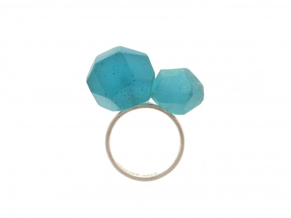 Blue Green Stones Ring