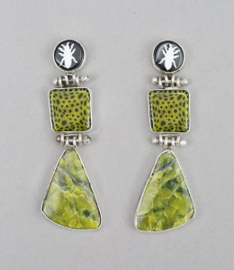 BarrD_Earrings_InsectsInGreen