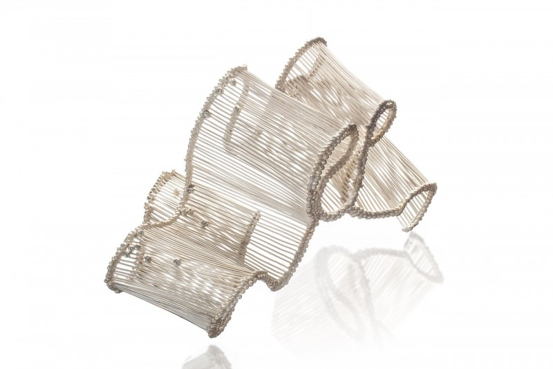 Brooch, silver, diamond, 4.5_x3.5_x3_, Jee Hye Kwon, 2018