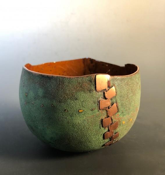 Green Zipper Bowl