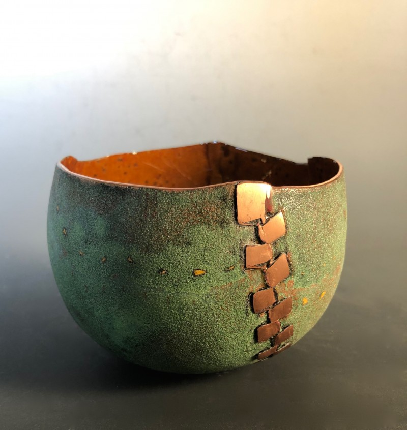 Green Zipper Bowl