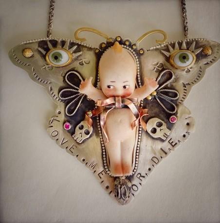 Butterfly Kewpie Doll Pendant