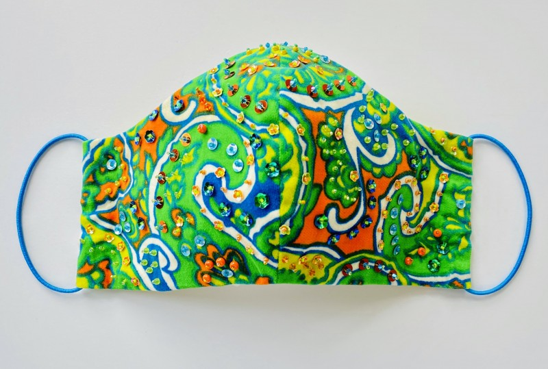 Sequin Paisley Mask