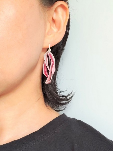 Spice-beets earring#1 on model