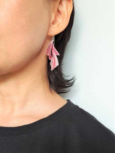 Spice-beets earring#2 on model