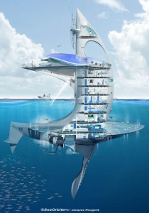 Jacques Rougerie concept for SeaOrbiter