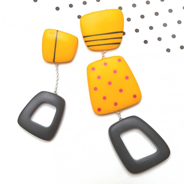 statement-square-big-yellow-spotty-resin-earrings-kaz-robertson-jewellery