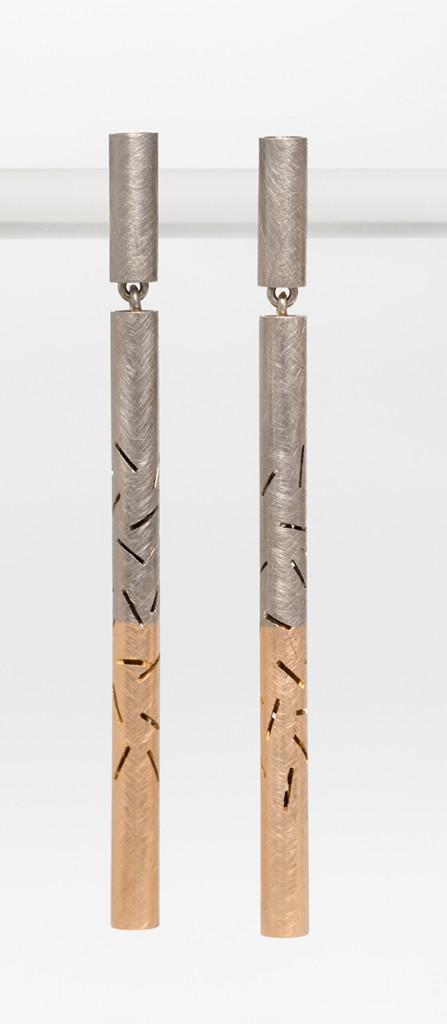 Sashiko earrings.1